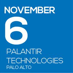 November 6 Palantir Technologies